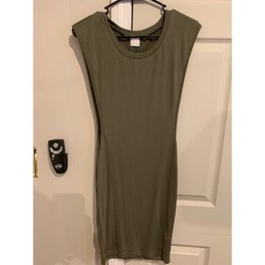 Dresses & Skirts - Army green side slit dress